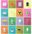 power and energy flat icons 18 vector image