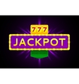 Retro banner of jackpot vector image vector image