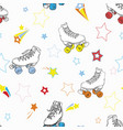 roller skates with stars in rainbow colors vector image vector image