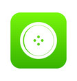 round sewing button icon digital green vector image