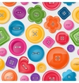 Seamless background with colorful buttons vector image