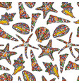 seamless pattern in zen art style with conch vector image vector image