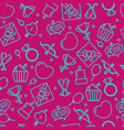 seamless pattern with heart and other signs vector image vector image
