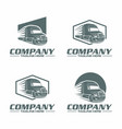 semi truck logo vector image vector image