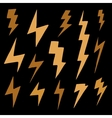 Set of brawn doodle simple lightning group of vector image vector image