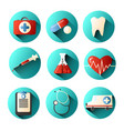 set of medical icons with different elements of a vector image vector image