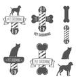 set vintage badge emblem and label elements vector image vector image