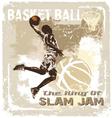 slam jam basketball vector image vector image