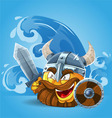 Smile Viking in helmet vector image