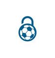 soccer security logo icon design vector image