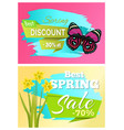 spring best discount 30 off sale set posters vector image vector image