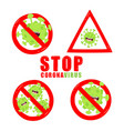 stop corona viruses sign graphics use vector image