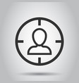 target audience icon in flat style focus on vector image