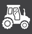 tractor glyph icon transport and vehicle vector image vector image