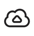 upload cloud icon vector image vector image