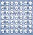 Water Drops Icons Set vector image vector image
