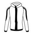winter jacket accessory fashion coat sport vector image