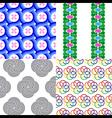 Circle Curl Seamless Pattern vector image