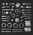 set of grunge brush strokes arrows vector image