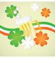 St Patricks Day Beer on vintage background with ir vector image