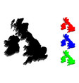 3d map of british isles vector image vector image