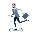 African businessman on a scooter healthy lifestyle vector image vector image