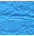 Background of crumpled paper in blue color vector image