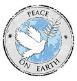 Bird dove as peace symbol stamp International vector image