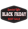 black friday best sale badge or label vector image