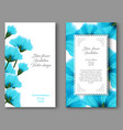 botanical vertical banners with blue flower vector image vector image