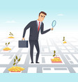 business investor office manager director vector image