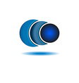 Business logo abstract circle company blue logo vector image vector image
