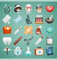 cartoon medical icons set vector image vector image