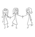 cartoon of homosexual couple of two lesbian women vector image vector image