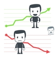 chart icon man vector image vector image