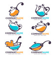 collection cooking equipment and food symbols vector image vector image