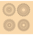 collection mandala meditation oriental yellow vector image vector image