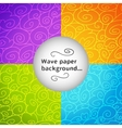 Colorful wave postcard vector image vector image