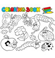 coloring book with small animals 1 vector image vector image