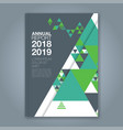 cover annual report 14 vector image