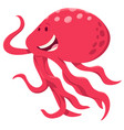 cute cartoon octopus animal character vector image vector image