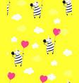 cute little zebra print vector image vector image
