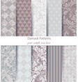 damask pattern set collection baroque vector image vector image