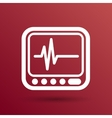 Display with Cardiogram Icon vector image