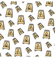 doodle plastic caution emblem to industry vector image vector image