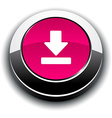 Download 3d round button vector image vector image