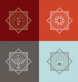 ector tattoo concepts in trendy lnear style vector image vector image