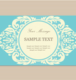 floral blue card vector image vector image