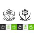 flower simple black line icon vector image