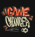football graphic print for t-shirt vector image